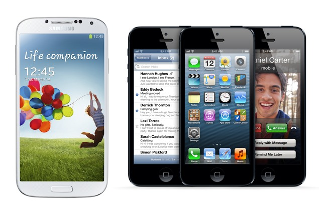 Samsung Galaxy S4 in un confronto con iPhone 5