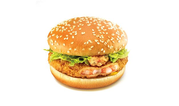 Japanese McDonalds feature this prawn-patty sandwich