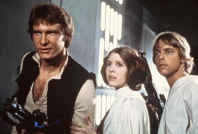 Carrie Fisher, Mark Hamill, Harrison Ford