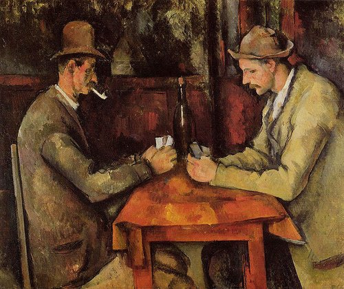 I giocatori di carte, di Paul Cézanne